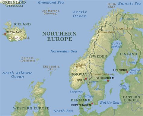map northern europe russia finland