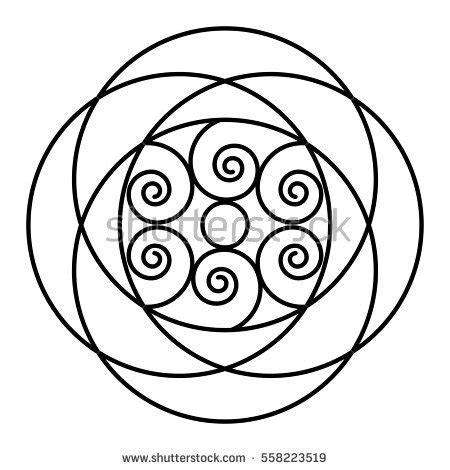 mandala coloring pages beginner easy floral black white mandala stock vector