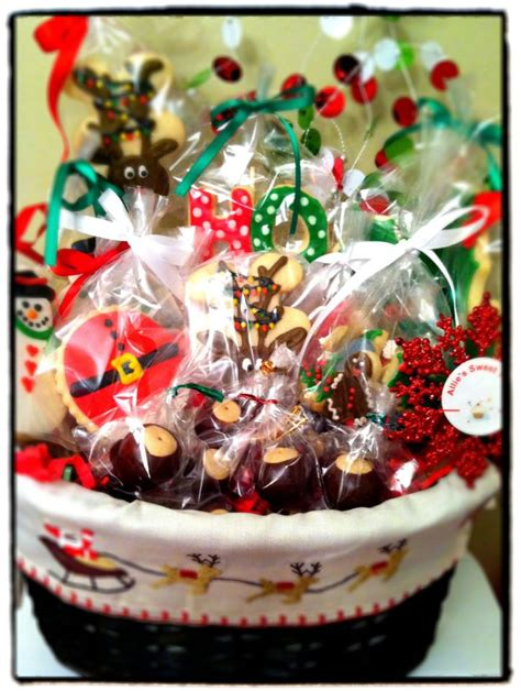 christmas cookie gift basket