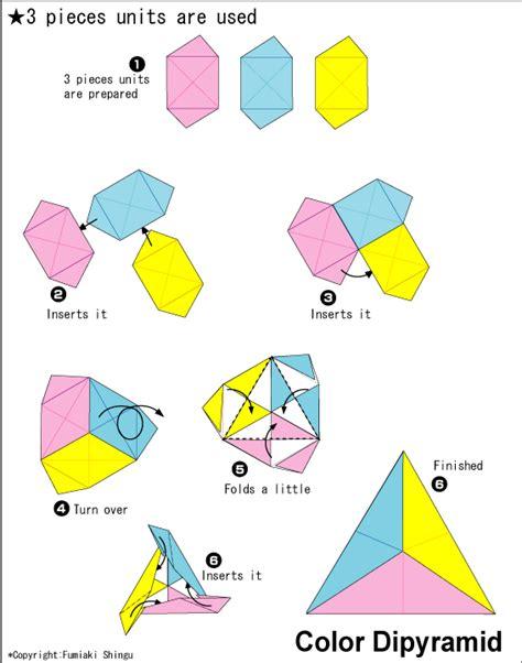 Origami Color - origami color dipyramid easy origami