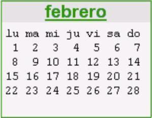 Calendario Febrero 2010 Calendario Febrero 2010 Definanzas