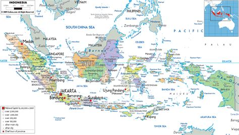 detailed political map  indonesia ezilon maps