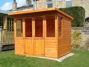 wooden summer house  fully tg outdoor garden room pent