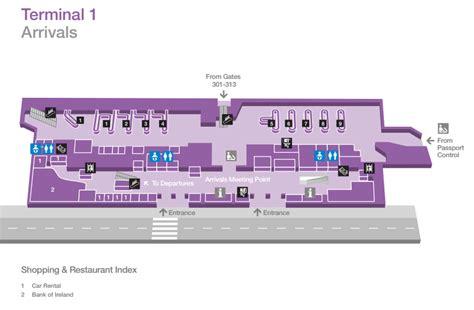 Floor Plan Companies by Car Hire Dublin Airport Terminal 1