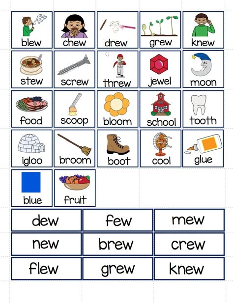 oo pattern words ew oo ue ui file folder word sort make take teach