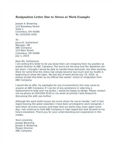 Resignation Letter Due To Health Problem In Word Format Resignation Letter Due To Health Reasons Resume Cv Cover Letter