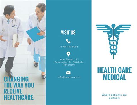 healthcare brochure brochure templates canva