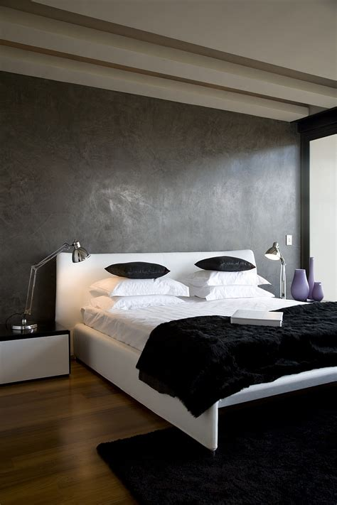 black bedroom minimalist bedroom in black white and grey decoist