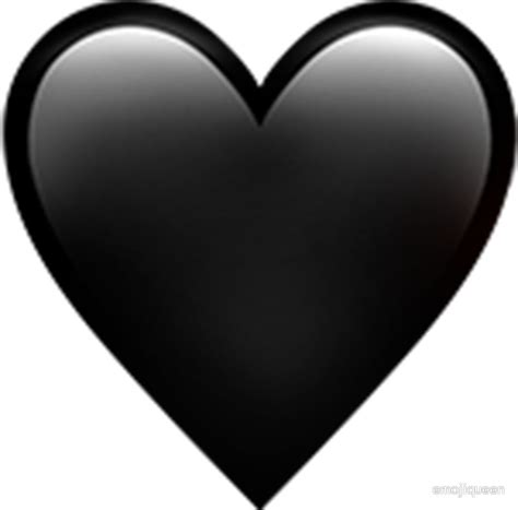 emoji heart black quot black heart emoji quot stickers by emojiqueen redbubble
