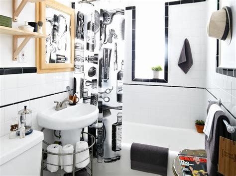 boys barbershop style bathroom diy