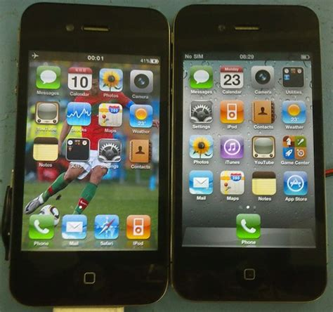 themes for iphone 4s clone can you tell these fake and real iphones apart
