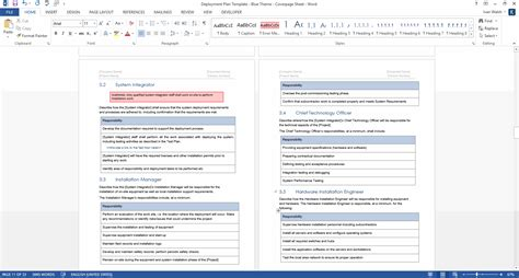 software deployment document template deployment plan template