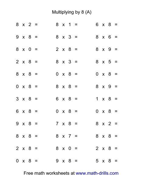 exercises free multiplication fact worksheets www