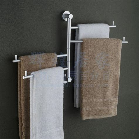 Bathroom Towel Racks Folding Movable Bath Towel Bar Wall