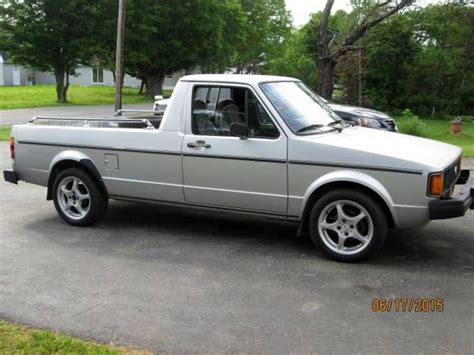 volkswagen rabbit truck 1982 1982 volkswagen rabbit pickup vw caddy truck runs drives