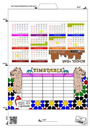 horario corte ingl s calendario en ingles para nios gallery of timetable