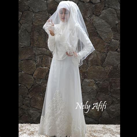Ready Promo Gaun Bulat Kebaya Pengantin Muslim gaun pengantin muslimah syar i
