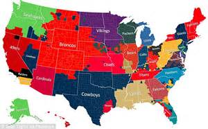 what nfl team has the most fans nationwide nfl fan map shows most popular teams by facebook posts