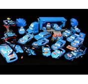 Pixar CARS Blue Dinoco Chick Hicks Diecast Car By Spiderman Jerry