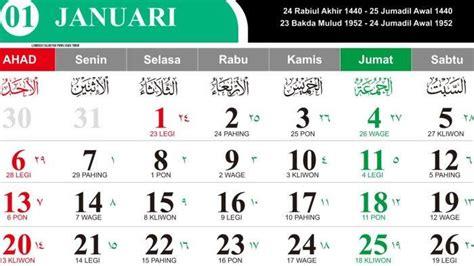 kalender  lengkap januari sampai desember kalender plan