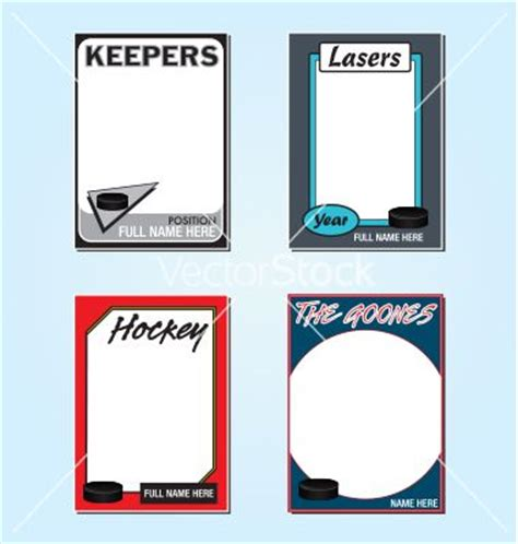 create your own hockey card template free hockey card templates nopjairefpo34 s soup