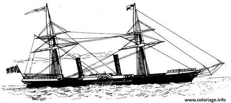 coloriage bateau a vapeur jecolorie - Dessin Bateau A Vapeur
