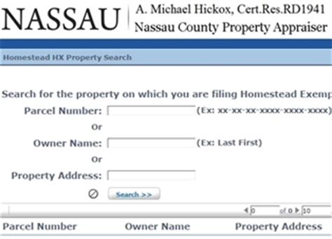 Nassau County Florida Property Records Property Appraiser Launches Homestead Exemption Filing
