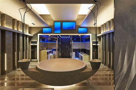 Modern Salon Interior Concept by Striking Wellness Bathroom Design Merger New Spa Suite By