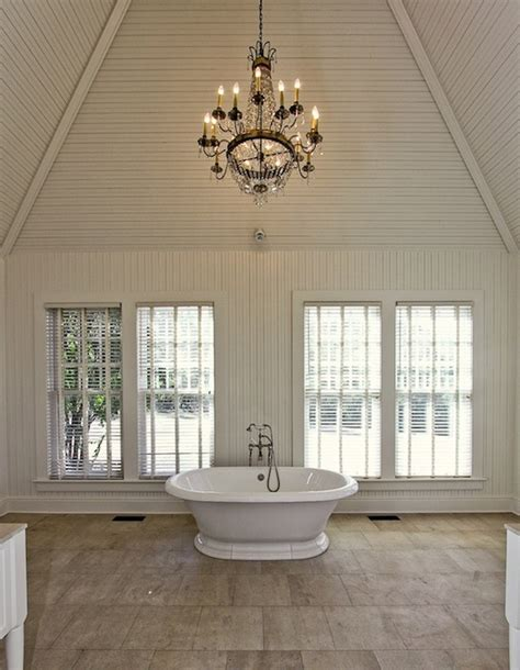 kronleuchter deckenleuchter vaulted ceiling bathroom traditional bathroom pricey