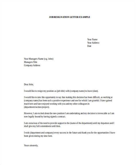 employment resignation letters resignation letter new offer resignation letter