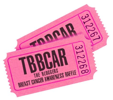 Sarah Vernon Is Fundraising For Breast Cancer Now Breast Cancer Raffle Ticket Template