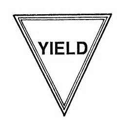 yield sign color sign coloring page clipart clipart suggest