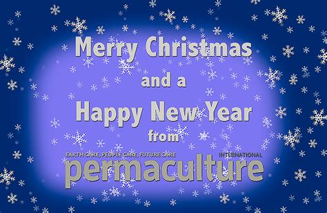 merry christmas  permaculture magazine