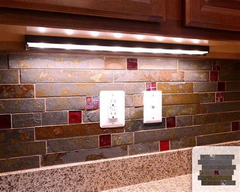 red kitchen tile backsplash rusty slate subway mosaic red glass kitchen backsplash