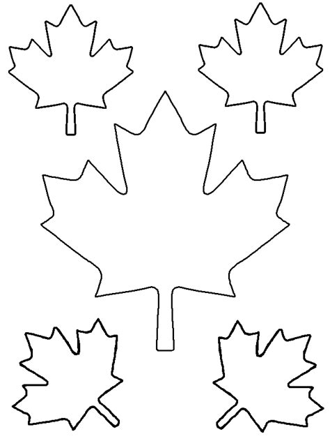 maple leaf printable template small maple leaf template design bild clipart