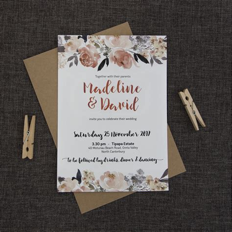 Pretty Wedding Invitations by Pretty Peonies Wedding Invitation Be My Guest