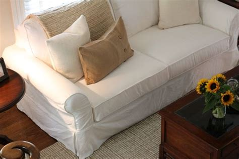white slipcovered sofa for the home