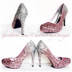 sparkly pink high heels glitter high heels silver pink pumps light pink silver