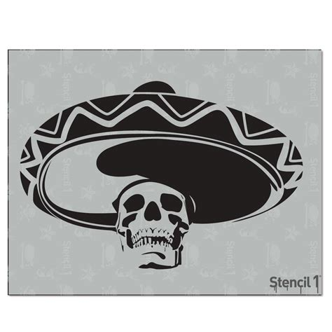 Stencil1 Mexican Skull Stencil S1 01 27 The Home Depot