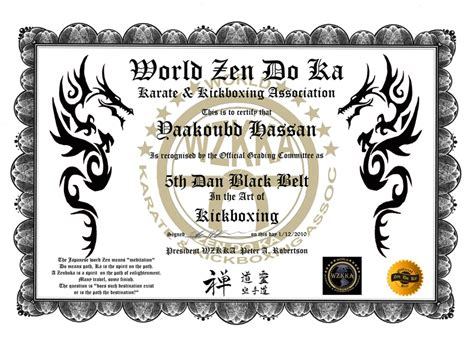 martial arts certificates templates martial arts certificate borders studio design