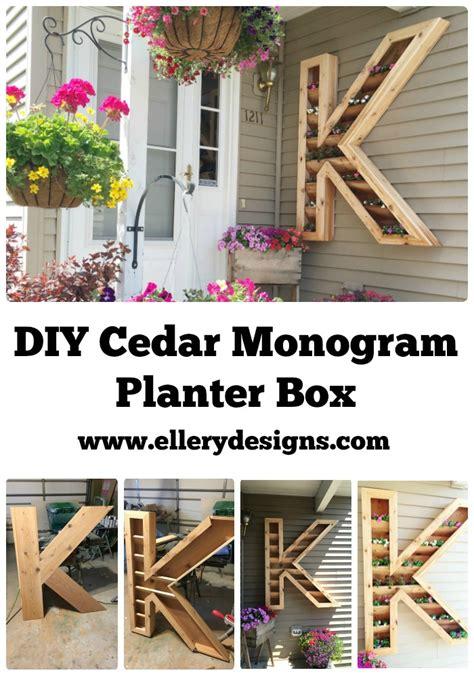 diy design diy cedar monogram planter box ellery designs