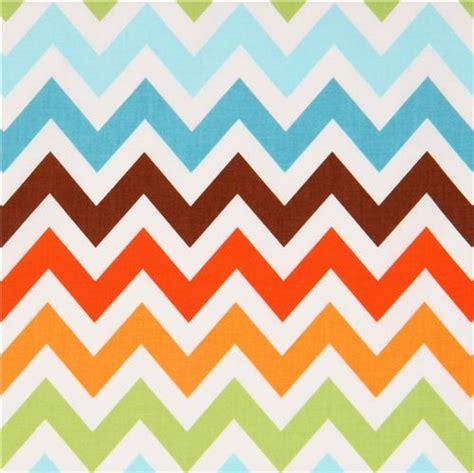 brown zig zag pattern robert kaufman zig zag chevron fabric brown blue remix