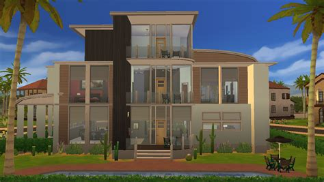 Modern Family House by Mod The Sims Modern Oasis A Modern Family Home Fixed