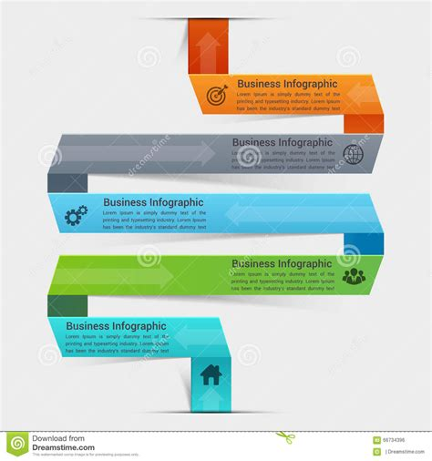 banner workflow business concept infographic template stock illustration