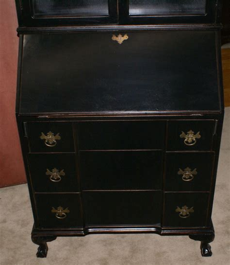 shabby chic secretary desk painted black shabby chic secretary desk