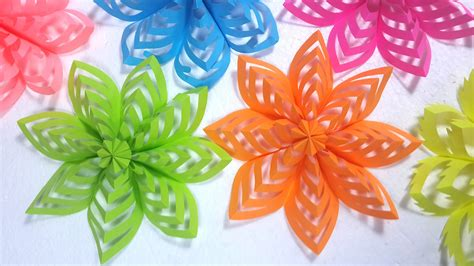 Flower Design Using Colored Paper | how to make this colored paper floral decoration youtube