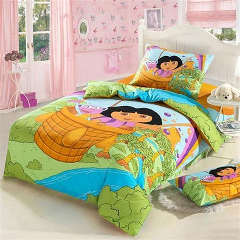 Twin Size Comforter Sets For Kids Dora Girls Cartoon Bedding Set Twin Size For Kids