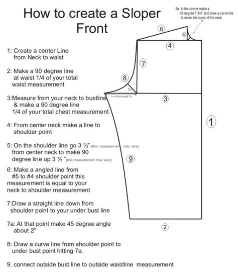 pattern drafting stretch fabric each 1 stitch 1 187 make a bodice sloper