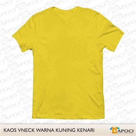Kaos Kuning Polos warna kaos polos dan aneka model kaos polos grosir murah