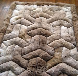 new 52 x 71 brown alpaca rug y